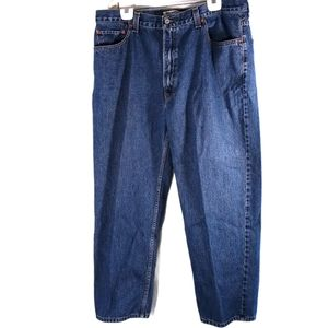 Levi's 550 Relaxed Fit Blue Denim Jeans Size 42x30
